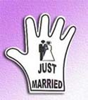 Just Married Foam Hand